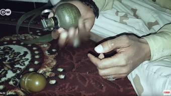 Aus Schweizer Produktion: Ruag-Handgranaten vom Typ HG85 in den Händen jemenitischer Islamisten.