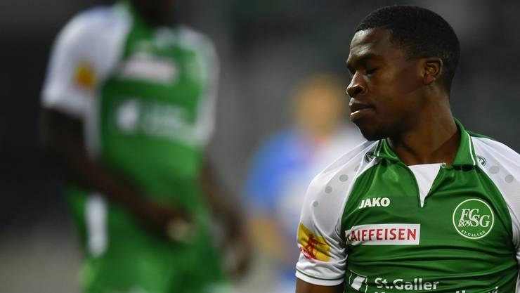 Seit Dereck Kutesa im Sommer vom FC Basel zu St. Gallen gewechselt hat, hat er sich in der Ostschweiz als Stammspieler etablieren können.