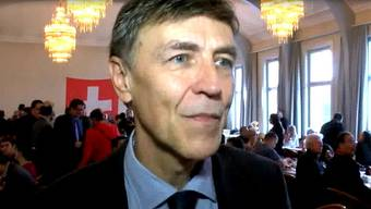 Luzi Stamm gab nach dem Abstimmungssonntag auch ausländischen Medien Interviews.