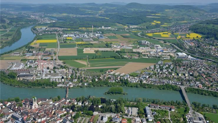 Wer Ideen und Anliegen für die Entwicklung des Gebiets Sisslerfeld (in der Bildmitte) hat, kann diese am 19. Juni an einem Forum für die Bevölkerung einbringen.