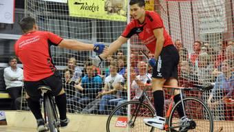 Für die Oftringer Rafael Stadelmann und Andreas Zaugg sind die Medaillenchancen noch intakt.