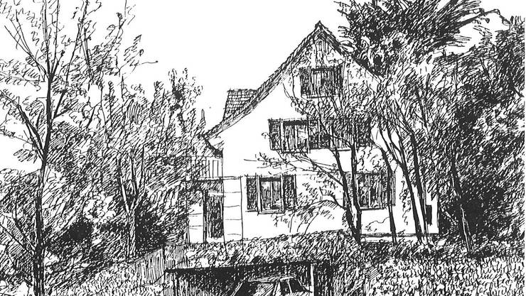 Die Häuser an der Oberholzstrasse im Zelgli-Quartier in der Zeit nach 1907. (Sammlung Stadtmuseum)