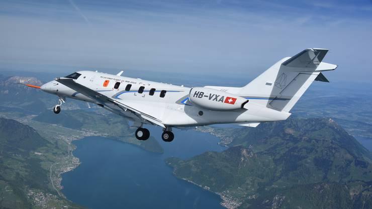 Der PC-24 ist das erste Düsenflugzeug des Unternehmens Pilatus, das sich zuvor auf Propellermaschinen spezialisiert hatte.