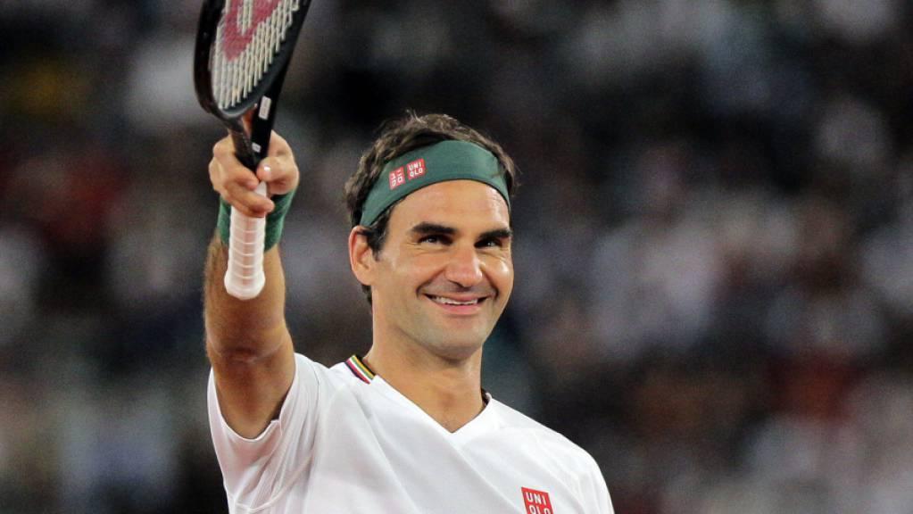 Ein Auftritt, der allen Spass machte: Roger Federer in Kapstadt.