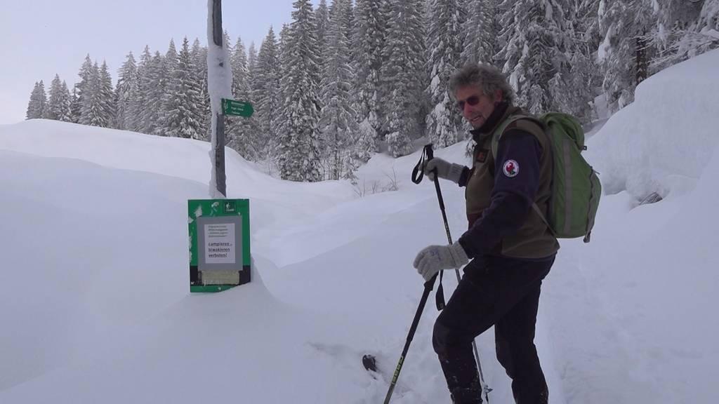 Alltag Schnee: im Einsatz für die Wildtiere