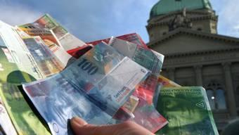 Geldsegen für den Bund: Der Bund rechnet 2018 erneut mit einem deutliche höheren Überschuss als budgetiert. (Archiv)