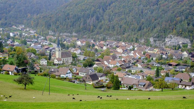 Die Gemeinde Kleinlützel liegt in einem Talkessel.