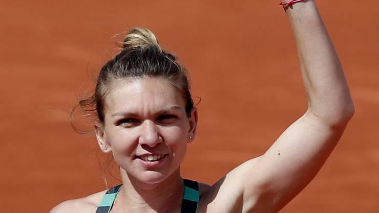 Am Ende mit dem längeren Atem: Simona Halep verlor zwar gegen Jelina Switolina erstmals am diesjährigen French Open einen Satz, nicht aber das Spiel