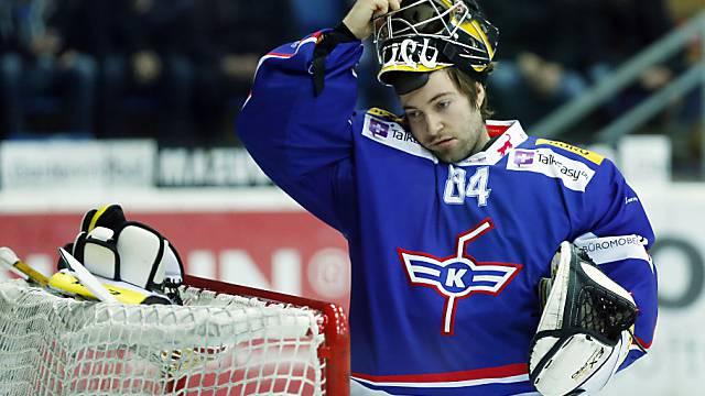 Goalie Michael Flückiger bestritt sein letztes Spiel für die Flyers