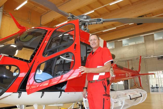 Daniel Kränzlin, Chefflughelfer der Rega und Leiter der Ausbildungsbasis Grenchen.