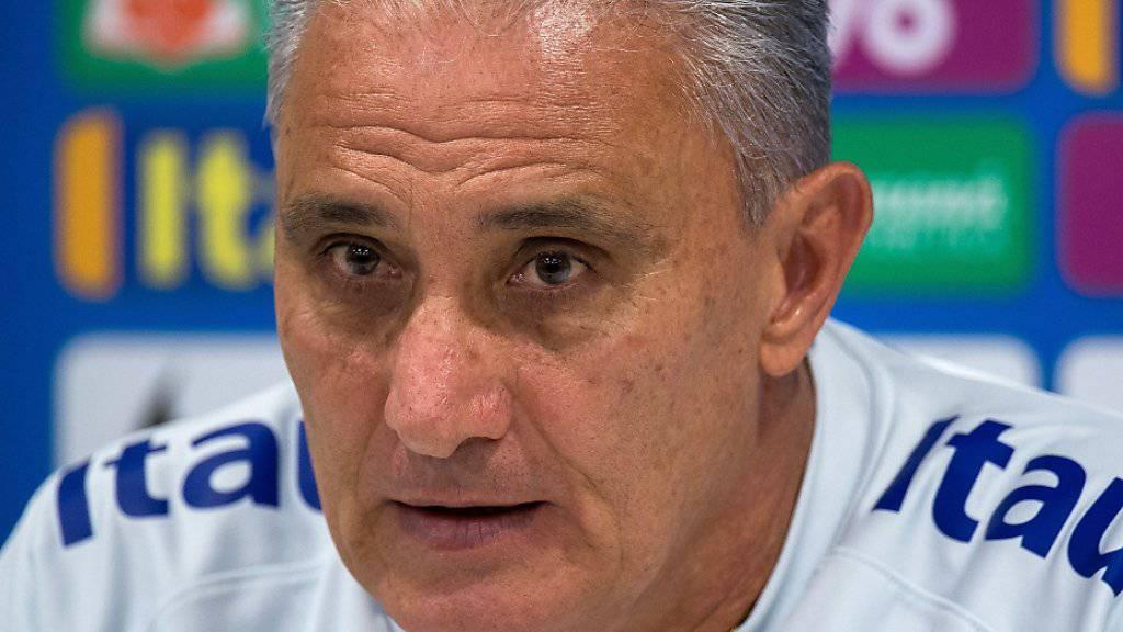 Brasiliens Nationaltrainer Tite nimmt kein Blatt vor den Mund