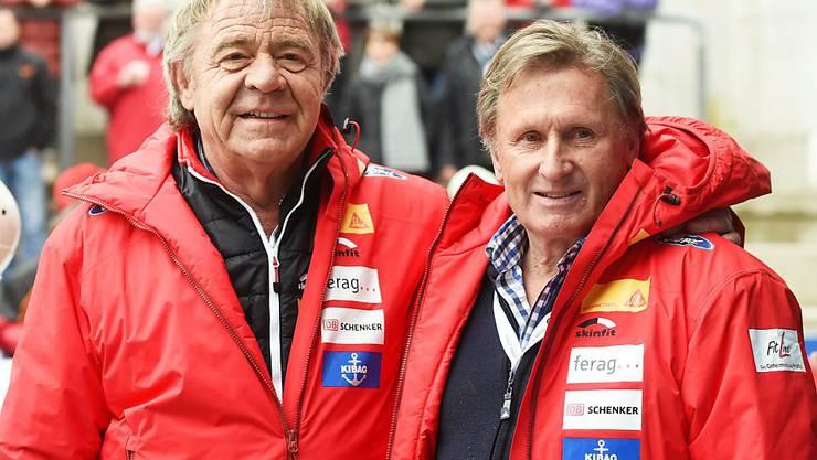 Zwei Olympiasieger: Ekkehard Fasser (li., 1988) und Erich Schärer (1980)