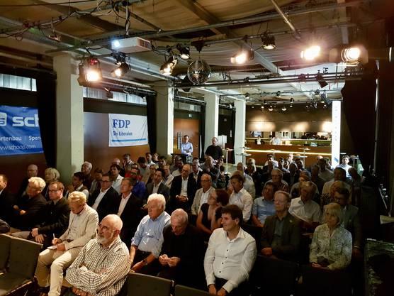 Über 100 Gäste fanden sich ein zum ersten Politapéro der FDP Baden