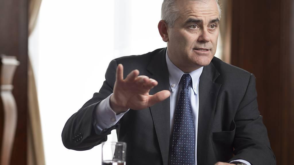 Der CS-Konzernchef Thomas Gottstein erwartet nur geringe Kreditausfälle aufgrund der Corona-Pandemie. (Archivbild)
