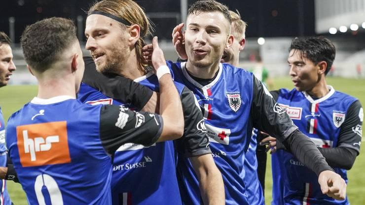 Der FC Aarau bejubelt den vierten Sieg in den letzten fünf Partien.