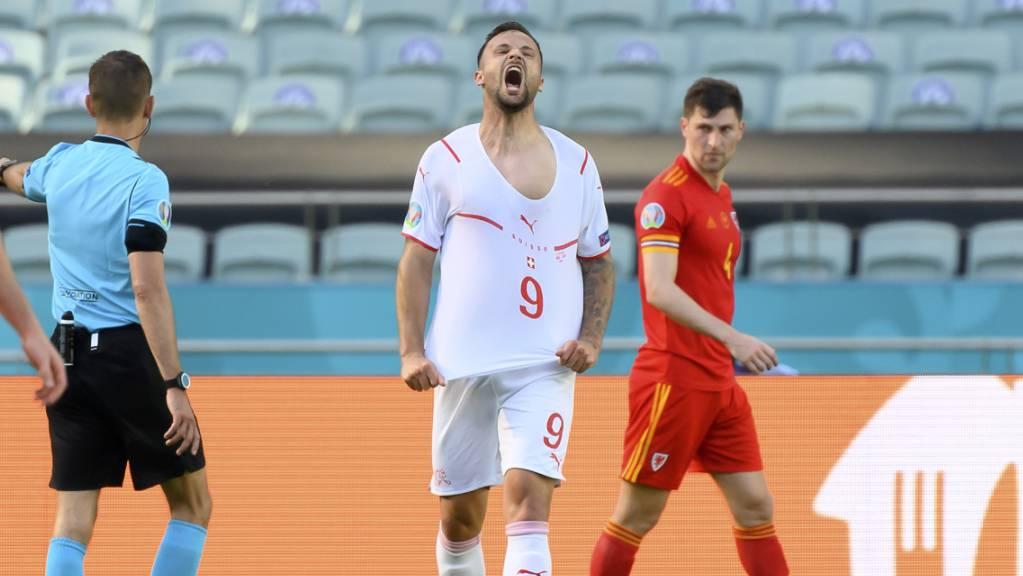 Es ist zum Verzweifeln: Haris Seferovic wartet seit elf Spielen auf ein Tor bei einer Endrunde