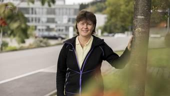 Esther Frischknecht in Dättwil, wo sie arbeitet.