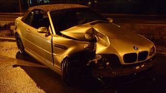 Beim Unfall erlitt der BMW Totalschaden.