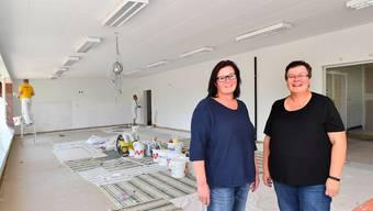 Jetzt noch eine kleine Baustelle, aber am 2. November bereit für die Kundschaft: Isabelle Hachen (links) und Regula Jäger lassen ab diesem Datum den Quartierladen Kleinholz wieder aufleben
