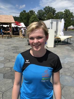 Nicole Roth (18), Schwanden GL, TV Haslen: «Wir haben die Trainer schon sehr lange. Wer sie designt hat, weiss ich gar nicht, wahrscheinlich irgendjemand vom Vorstand. Einen Teil der Kosten hat der Verein übernommen, den anderen Teil mussten wir selber zahlen.»