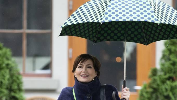 Regula Rytz, Parteipräsidentin der Grünen, wird von der CVP im Regen stehen gelassen. Viele Christlichdemokraten wollen nichts wissen von einem grünen Bundesrat.