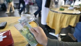 Falsche 50er Noten sind in der Region Baden aufgetaucht. Im Bild eine echte.