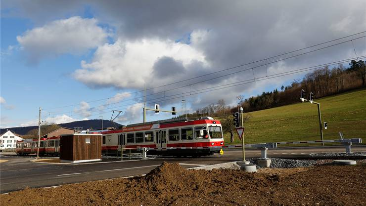Bereits gesichert: Der neue Übergang beim Neuhof an der Kantonsstrasse Liestal-Bubendorf.