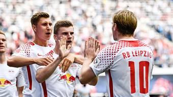 RB Leipzig jubelt gegen Freiburg über die ersten Punkte in dieser Bundesliga-Saison