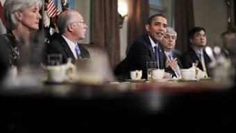 US-Präsident Obama beschreibt vor den Medien die Grenzen der Kompromissbereitschaft mit den Republikanern