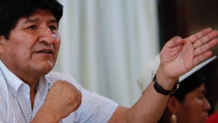 Dem ehemaligen Präsident Boliviens, Evo Morales, droht eine Anklage wegen Terrorismus (Archivbild)