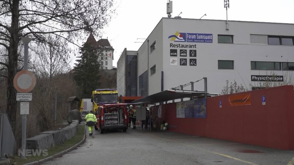 Chemieunfall in Sumiswald: Polizei und Feuerwehr mit Grossaufgebot vor Ort