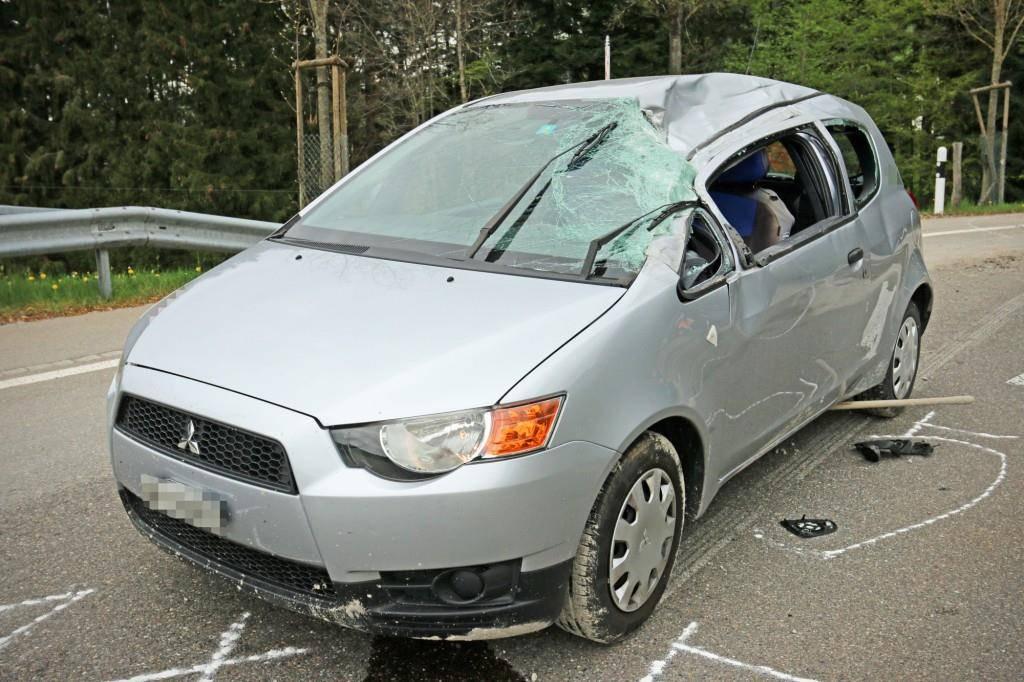 Unfall auf Rehetobelstrasse St.Gallen (© Stadtpolizei St.Gallen)