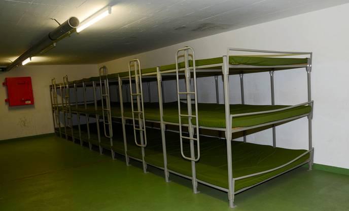 Hier werden die Asylsuchenden schlafen