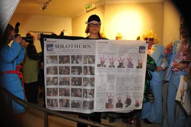 Eine riesige WZ-Zeitung