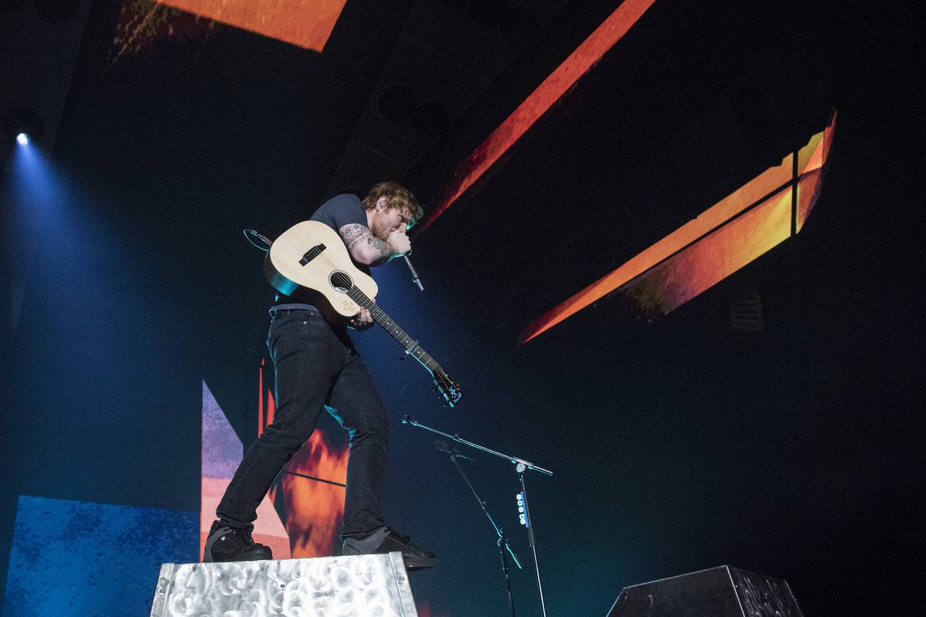 Ed Sheeran während seines Konzerts im Zürcher Hallenstadion (© Keystone)