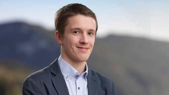Joël Müller kandidiert für die junge CVP.