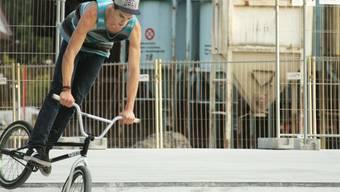 Sorgte für Action: Der Rupperswiler BMX-Fahrer Marco Setz. iss