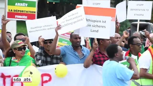 Äthiopier demonstrieren in Bern gegen neues Ausschaffungs-Regime