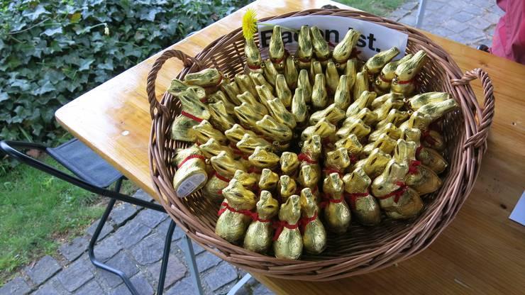 Für die Kinder standen 230 Lindt Goldhasen bereit.