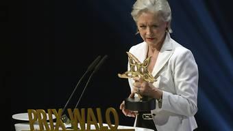 Heidi Maria Glössner bei der Entgegennahme des Prix Walo im Jahr 2016. (Archivbild)