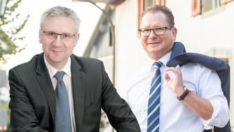 Duell ums SVP-Präsidium. Andreas Glarner gegen Rolf Jäggi.