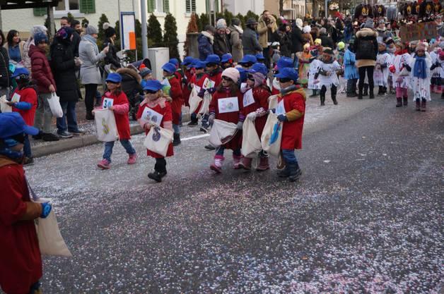 Die Panzerknacker vom Kindergarten Steinmürli kamen in guter Mission ...