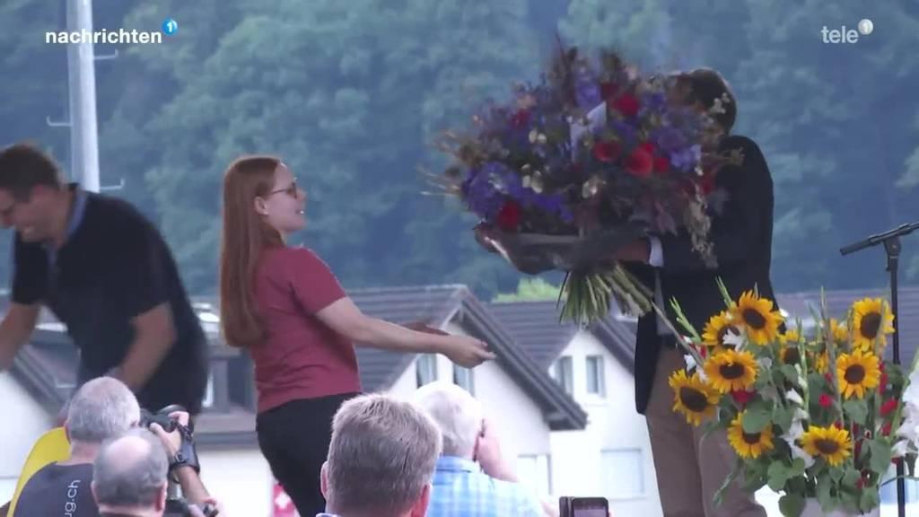 Grosse Feier für Nina Christen in Wolfenschiessen
