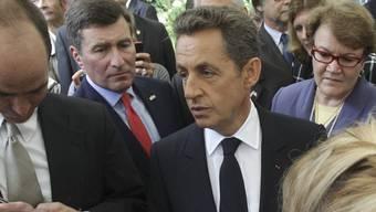 Nicolas Sarkozy spricht während einer Gedenkveranstaltung zum Jahrestag von 9/11