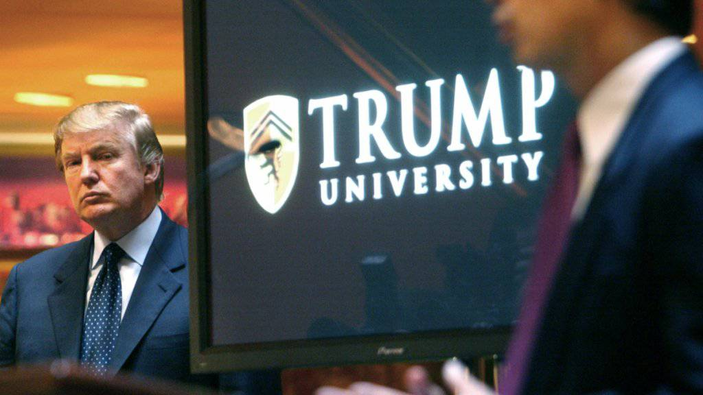 Nun also doch: Trump willigt in einen Vergleich ein, nachdem er Anschuldigungen wegen Betrugs in seiner «Universität» zuletzt in Bausch und Bogen zurückgewiesen hatte. (Archivbild)
