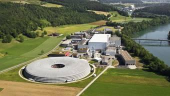 Luftaufnahme der Synchrotronlichtquelle beim Paul-Scherrer-Institut. Foto: Markus Fischer