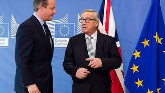 Wegen der «Brexit»-Abstimmung ist die EU-Gesetzesmaschine ins Stottern geraten: Der britische Premier David Cameron (links) mit EU-Kommissionspräsident Jean-Claude Juncker in Brüssel. (Archivbild).