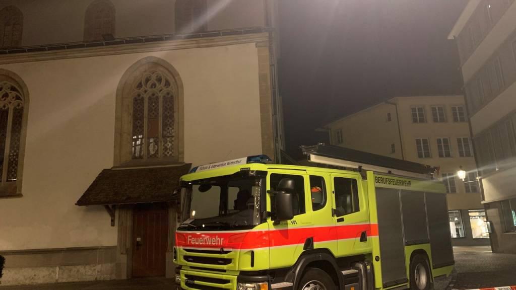 Brand verursacht grossen Schaden in der Stadtkirche Winterthur