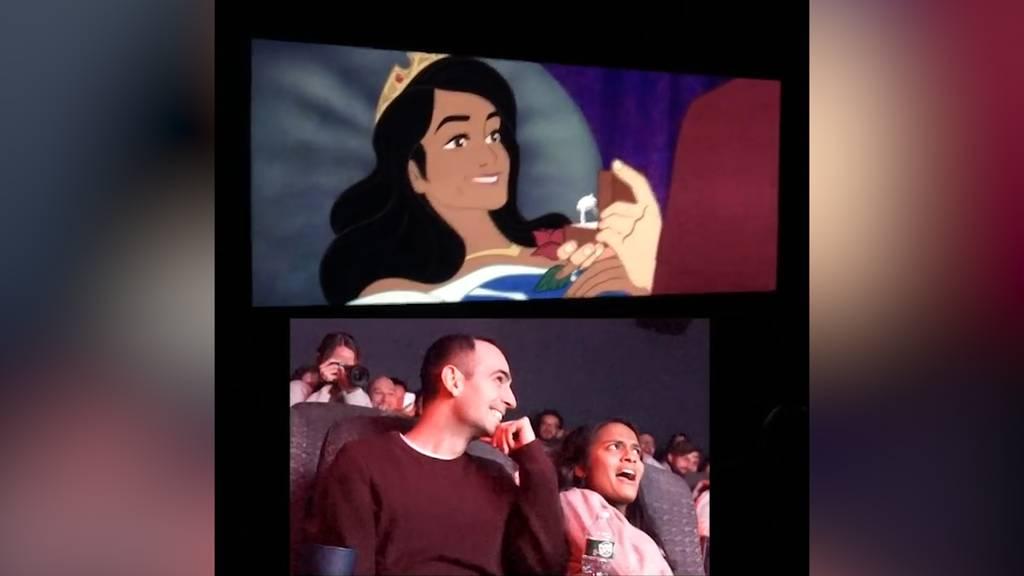 Märchenhafter Heiratsantrag im Kino
