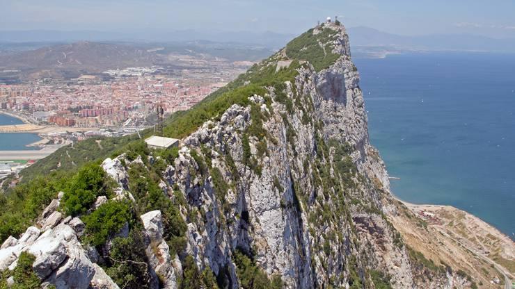 Rock of Gibraltar, britische Enklave in Andalusien, Spanien